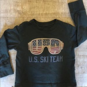 12-18 month long sleeve ski team shirt